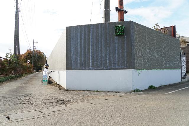 5.東側 外塀シーラー塗装