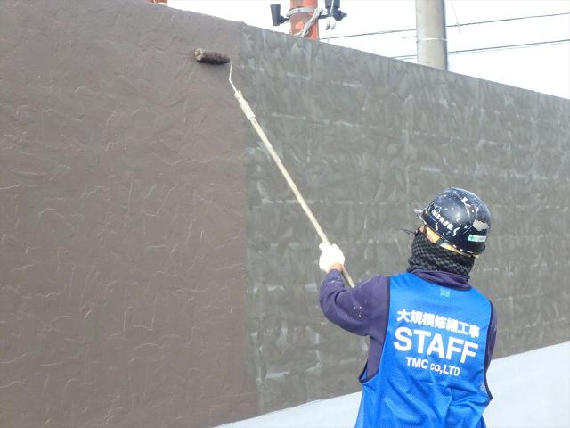 6.東側 外塀仕上げ塗装工事1