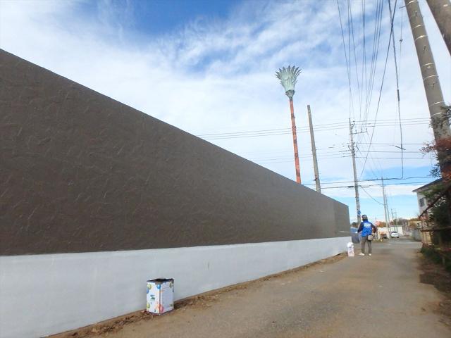 7.東側 外塀仕上げ塗装工事2