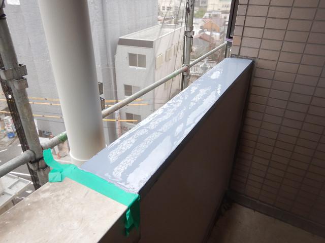 5.廊下腰壁笠木ウレタン防水1層目1