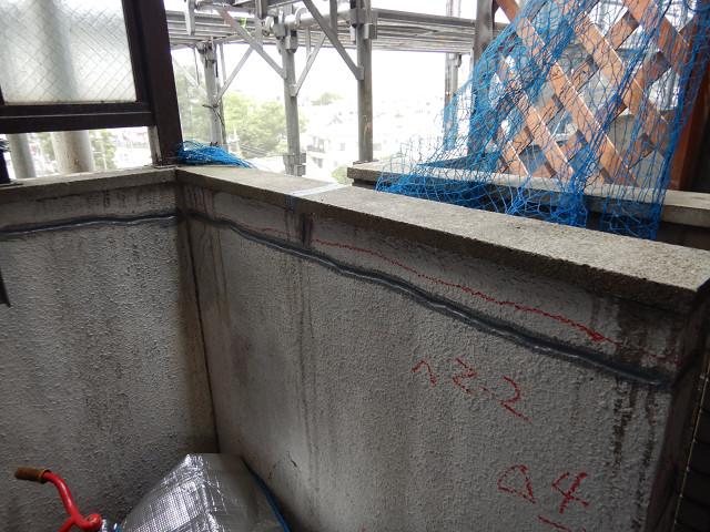 1.外壁塗装面下地補修1