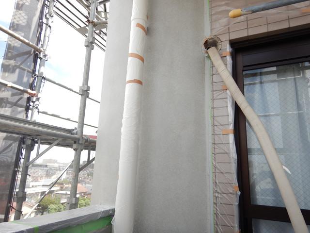 11.北面円柱ファンデーション塗装2