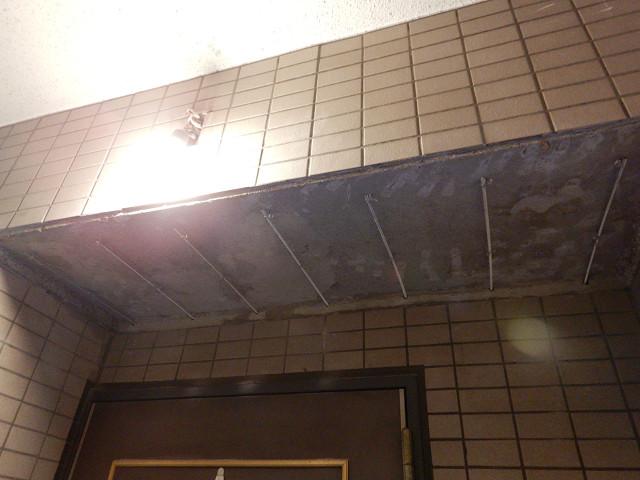 12.306号室天井左官下地