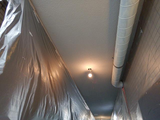 3.共用廊下天井塗装1