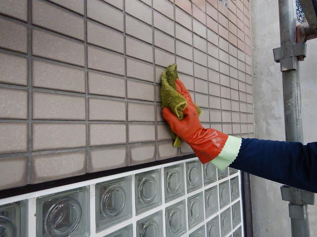 3.外壁薬品洗浄1