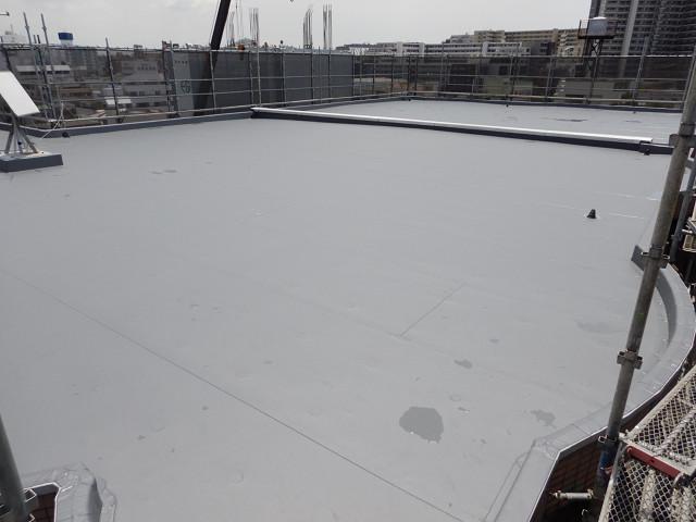 4.屋上シート防水完了