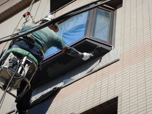 9.西面出窓下部塗装